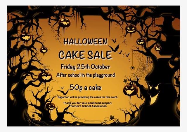 Halloween Cake Sale